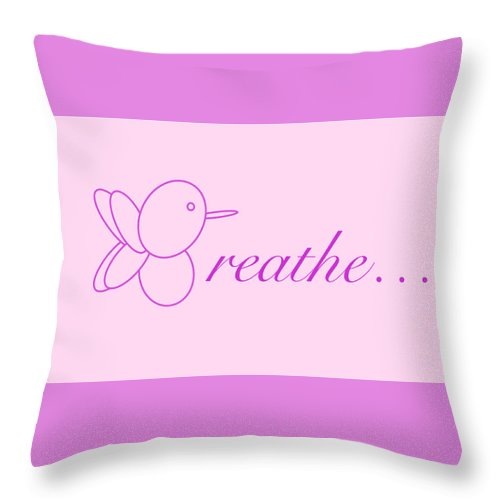 Breathe... In Blush - Throw Pillow