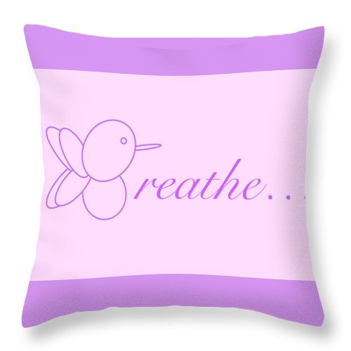 Breathe... In Lilac - Throw Pillow