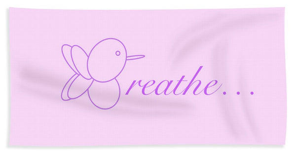 Breathe... In Lilac - Beach Towel