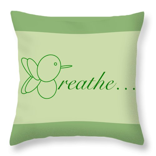 Breathe... In Sage - Throw Pillow