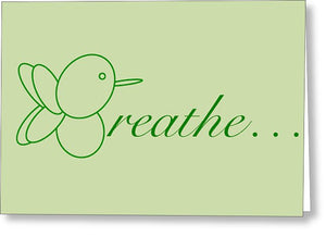 Breathe... In Sage - Greeting Card