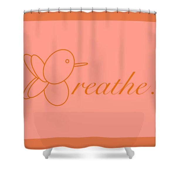 Breathe... In Salmon - Shower Curtain