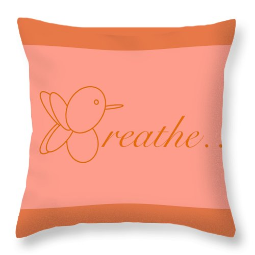 Breathe... In Salmon - Throw Pillow