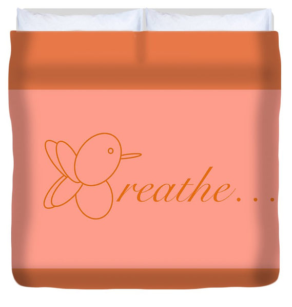 Breathe... In Salmon - Duvet Cover
