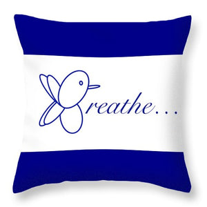 Breathe.... In Snow - Throw Pillow
