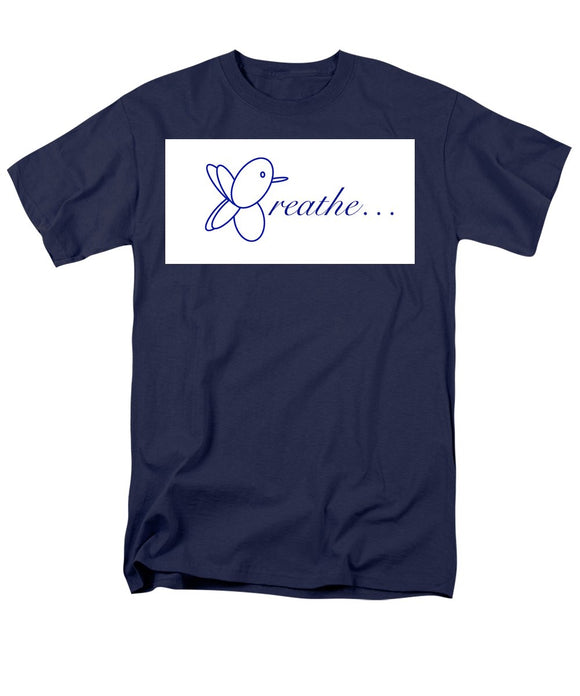 Breathe.... In Snow - Men's T-Shirt  (Regular Fit)
