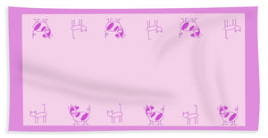 Cat Cow Pink - Beach Towel