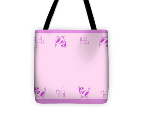Cat Cow Pink - Tote Bag