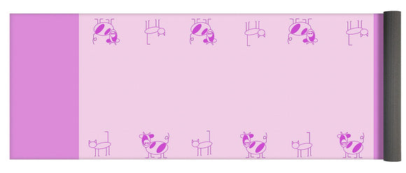 Cat Cow Pink - Yoga Mat