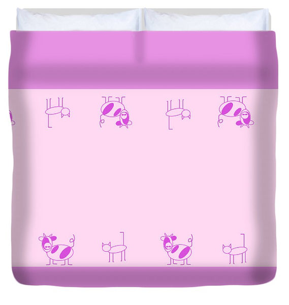 Cat Cow Pink - Duvet Cover
