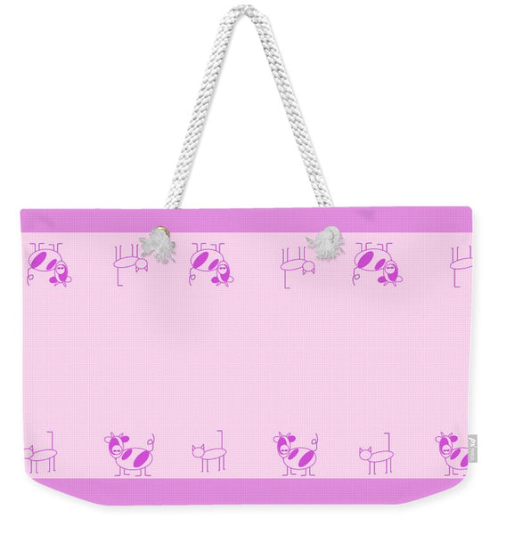 Cat Cow Pink - Weekender Tote Bag
