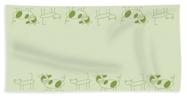 Cat Cow Sage  - Bath Towel