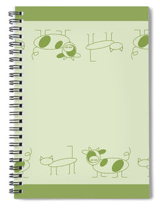 Cat Cow Sage  - Spiral Notebook