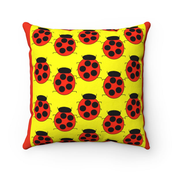 Lady Bug Party Accent Square Pillow