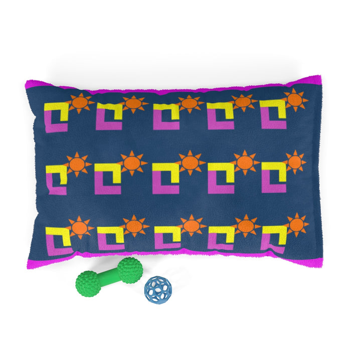 Sunset Camel Pose Party Print Pet Bed