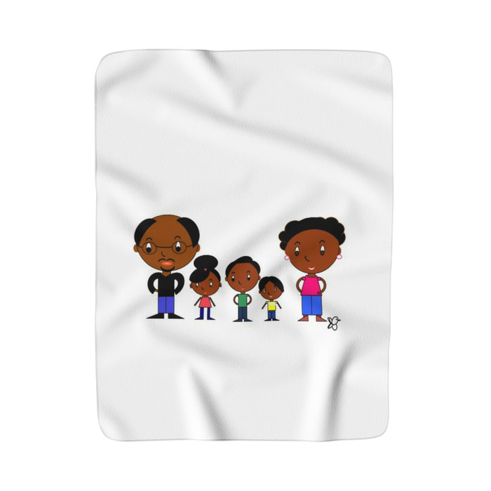 Black Family Magic Sherpa Fleece Blanket