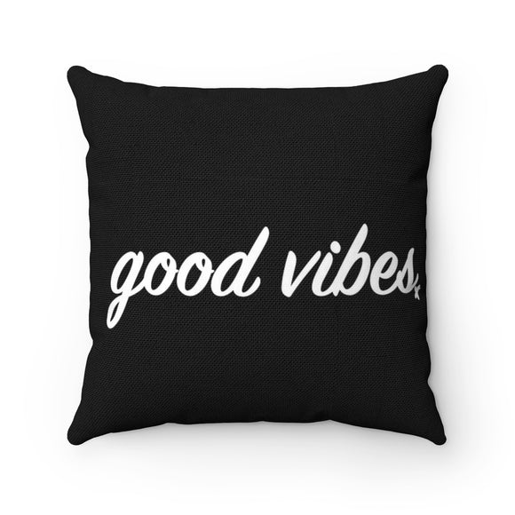 Good Vibes Breathe MBB Accent Square Pillow