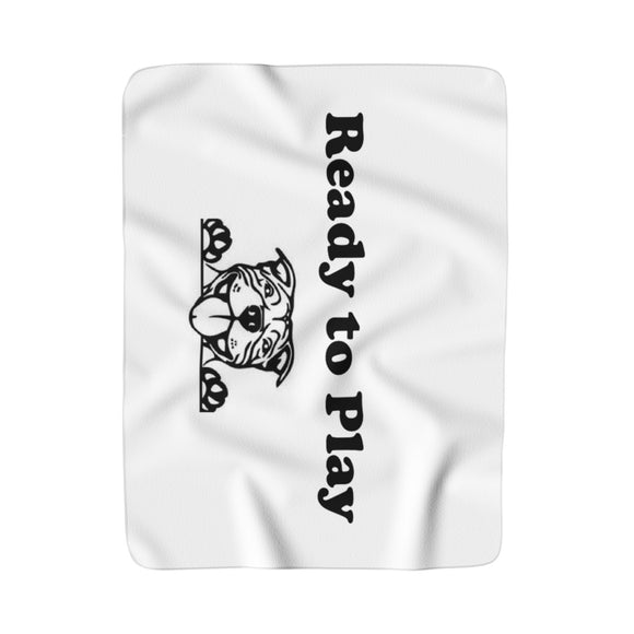Ready to Play Super Moma Sherpa Fleece Blanket