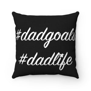 Hashtag Dadgoals MBB Accent Square Pillow