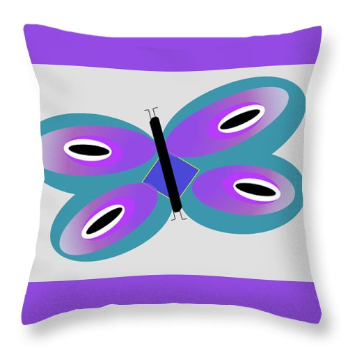 Flutterfly - Throw Pillow