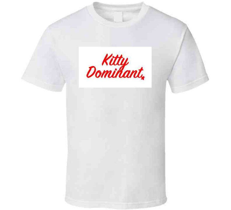 Kitty Dominant Red T Shirt