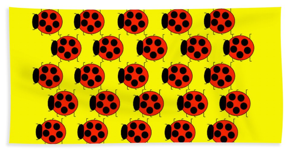 Lady Bug Dazzle - Beach Towel
