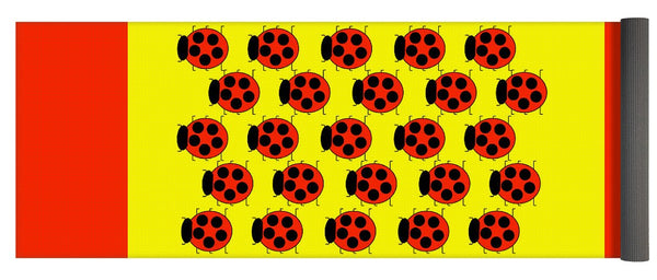 Lady Bug Dazzle - Yoga Mat