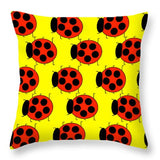 Lady Bug Dazzle - Throw Pillow