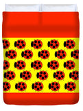 Lady Bug Dazzle - Duvet Cover