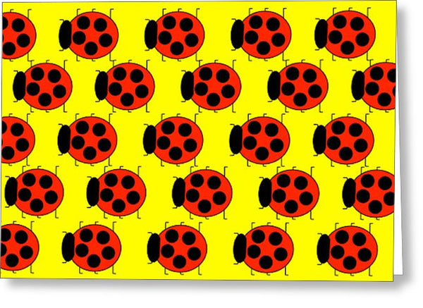 Lady Bug Dazzle - Greeting Card
