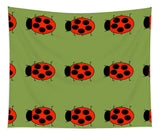 Lady Bug Dazzle Sage - Tapestry