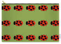 Lady Bug Dazzle Sage - Carry-All Pouch