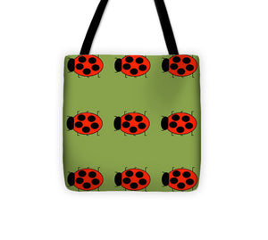 Lady Bug Dazzle Sage - Tote Bag