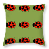 Lady Bug Dazzle Sage - Throw Pillow