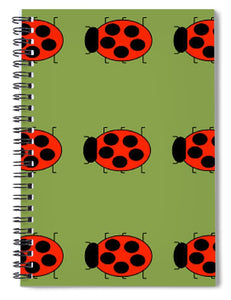 Lady Bug Dazzle Sage - Spiral Notebook