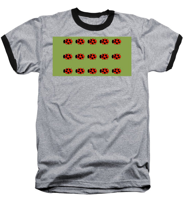 Lady Bug Dazzle Sage - Baseball T-Shirt