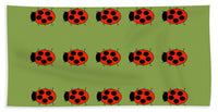 Lady Bug Dazzle Sage - Bath Towel