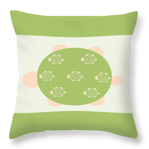 Mama Turtle Journey - Throw Pillow