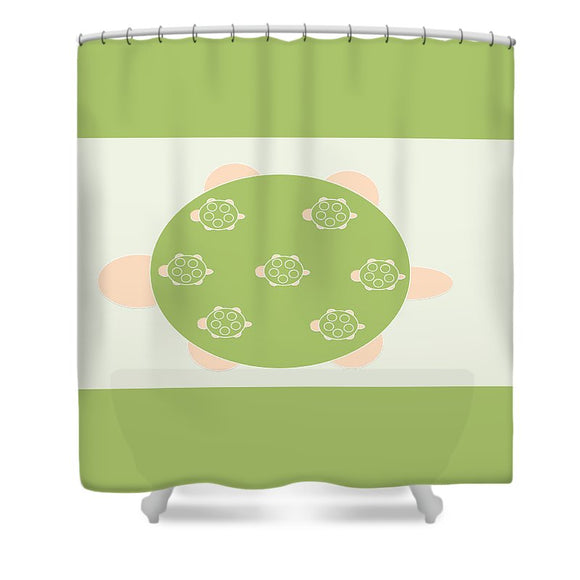 Mama Turtle Journey - Shower Curtain