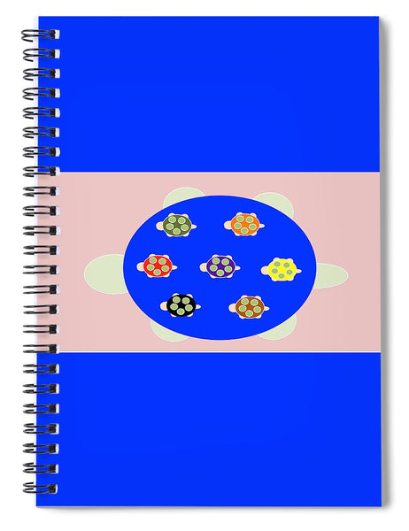 Mama Turtle Journey Color - Spiral Notebook