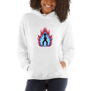 Tai Flame on White Special Edition UNISEX Hooded Sweatshirt