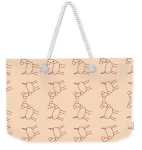 Peach Dog Walk - Weekender Tote Bag