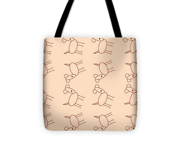 Peach Dog Walk - Tote Bag