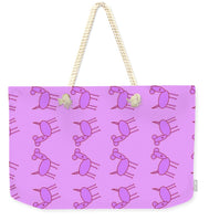 Pink Dog Walk - Weekender Tote Bag