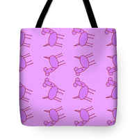 Pink Dog Walk - Tote Bag