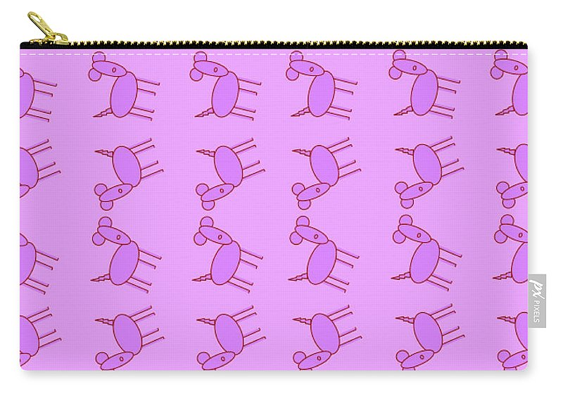 Pink Dog Walk - Carry-All Pouch