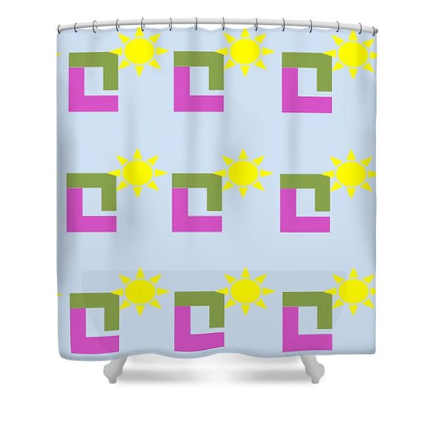 Sun Pose Sunrise - Shower Curtain