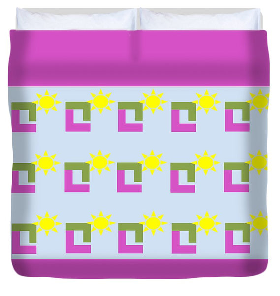 Sun Pose Sunrise - Duvet Cover