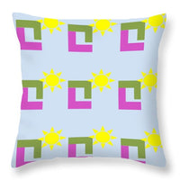 Sun Pose Sunrise - Throw Pillow
