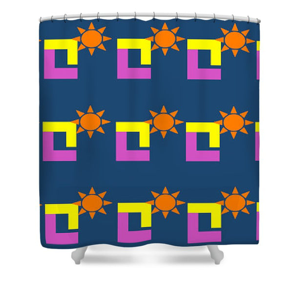 Sun Pose Sunset - Shower Curtain